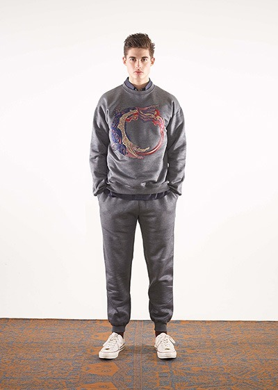 Devil Koi silk faced sweatshirt