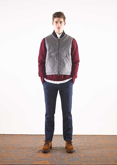 Cashmere melton body warmer