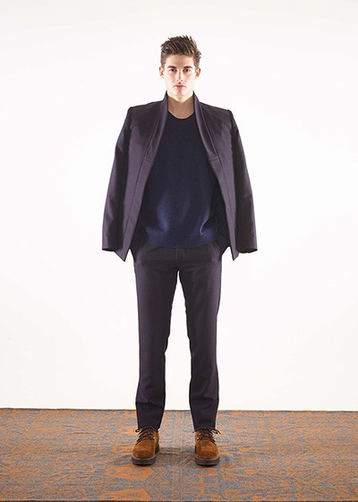 Wool ottoman shwal collar jacket